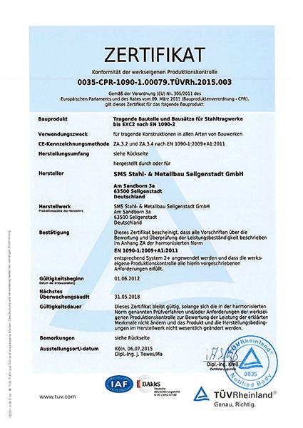 Zertifikat 1090