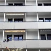 SMS Stahl- & Metallbau Seligenstadt Renovierung Balkone Mehrfamilienhaus mit pulverbeschichteten Alu-Elementen